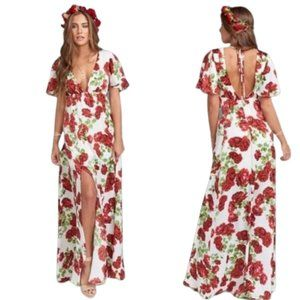 Show Me Your MuMu Faye Flutter Maxi Dress XXS